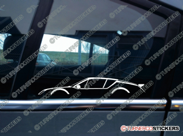 2x Car Silhouette sticker - Alpine A310 classic sports car